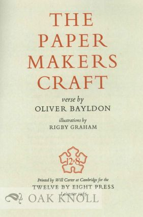 THE PAPER MAKERS CRAFT.