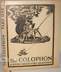 THE COLOPHON, A BOOK COLLECTOR'S QUARTERLY