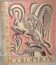 COLOPHON, A BOOK COLLECTOR'S Q. 10.