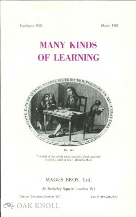 MANY KINDS OF LEARNING. 1025