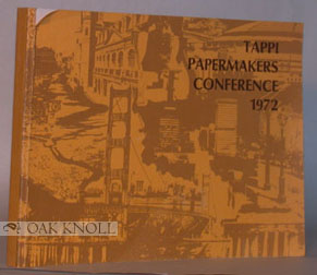 TAPPI PAPERMAKERS CONFERENCE, 1972.