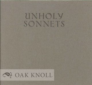 UNHOLY SONNETS. Mark Jarman