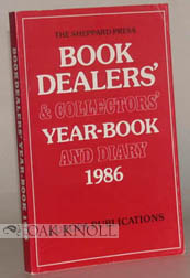 BOOK DEALERS' & COLLECTORS' YEAR-BOOK AND DIARY 1986.