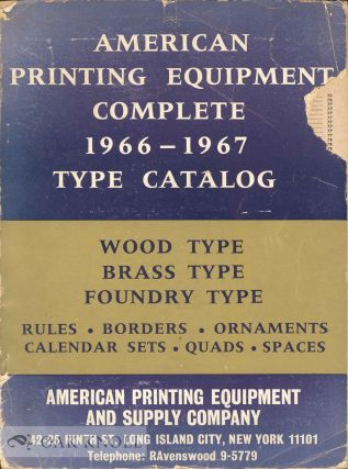 AMERICAN PRINTING EQUIPMENT 1966-1967 CATALOG