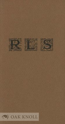 RLS, A FEW SENTENCES FROM THE WRITINGS OF ROBERT LOUIS STEVENSON
