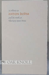 A TRIBUTE TO ANTON BOHM.