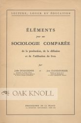 ELEMENTS POUR UNE SOCIOLOGIE COMPAREE