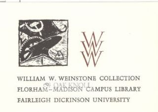 WILLIAM W. WEINSTONE COLLECTION BOOKPLATE