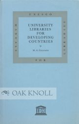 UNIVERSITY LIBRARIES FOR DEVELOPING COUNTRIES. M. A. Gelfand