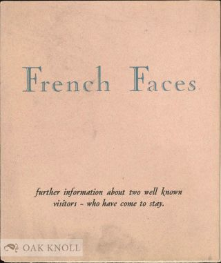 FRENCH FACES. Continental.