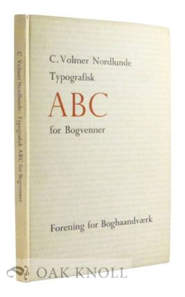 TYPOGRAFISK ABC FOR BOGVENNER