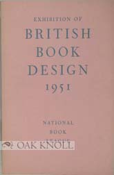EXHIBITION OF BRITISH BOOK DESIGN 1951. Harry Carter.