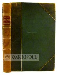 ENGLISH LITERATURE NOTED BIBLIOGRAPHICALLY AND BIOGRAPHICALLY, A CATALOGUE WITH PRICES AFFIXED,...