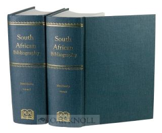 MENDELSSOHN'S SOUTH AFRICAN BIBLIOGRAPHY. WITH A DESCRIPTIVE INTRODUCTION BY I.D. COLVIN. Sidney...