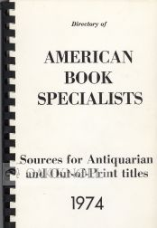 DIRECTORY OF AMERICAN BOOK SPECIALISTS