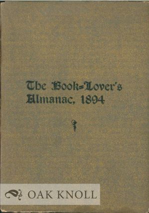 BOOK-LOVER'S ALMANAC FOR THE YEAR 1894