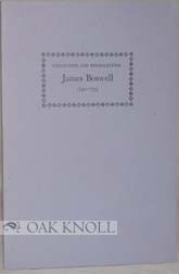 COLLECTING AND RECOLLECTING JAMES BOSWELL 1740-1795