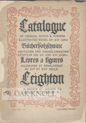 CATALOGUE OF GERMAN, DUTCH & FLEMISH ILLUSTRATED BOOKS