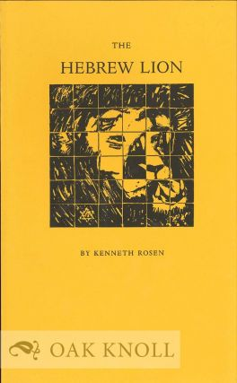 THE HEBREW LION. Kenneth Rosen.