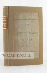 CATALOGUE OF THE LINONIAN AND BROTHERS' LIBRARY, YALE COLLEGE