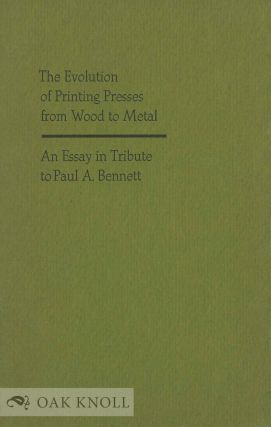 THE EVOLUTION OF PRINTING PRESSES FROM WOOD TO METAL. Andrew Polscher.