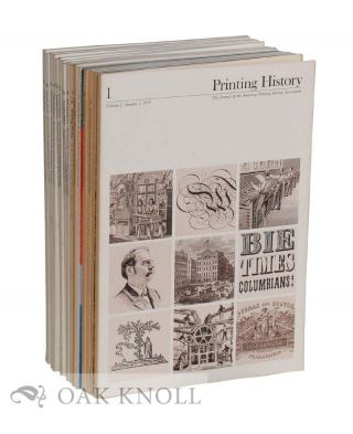 PRINTING HISTORY, THE JOURNAL OF THE AMERICAN PRINTING HISTORY ASSOCIATION