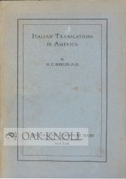 ITALIAN TRANSLATIONS IN AMERICA. N. C. Shields