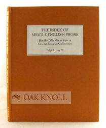 SMALLER BODLEIAN COLLECTIONS: ENGLISH MISCELLANEOUS, ENGLISH POETRY, ENGLISH THEOLOGY, FINCH,...