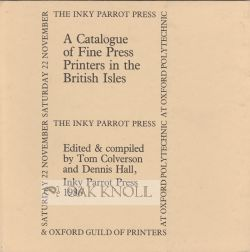 A CATALOGUE OF FINE PRESS PRINTERS IN THE BRITISH ISLES