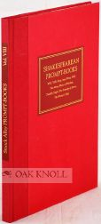 SHAKESPEAREAN PROMPT-BOOKS OF THE SEVENTEENTH CENTURY. G. Blakemore Evans
