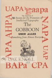 THE GOBBOON, SOMETHING FROM ALMOST EVERYONE,THE QUARTERLY OF THE SOCIETY FOR THE PROMOTION OF...