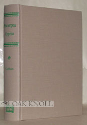EXCERPTA CYPRIA, MATERIALS FOR A HISTORY OF CYPRUS WITH AN APPENDIX ON THE BIBLIOGRAPHY OF CYPRUS