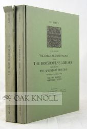 CATALOGUE OF VALUABLE PRINTED BOOKS FROM .. BROXBOURNE