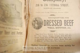 WILMINGTON CITY DIRECTORY AND BUSINESS GAZETTEER FOR 1898.
