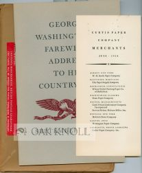 GEORGE WASHINGTON'S FAREWELL ADDRESS TO HIS COUNTRYMEN