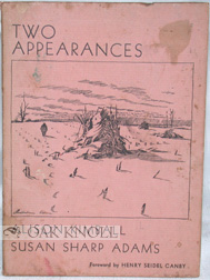 TWO APPEARANCES. Alison Kimball, Susan Sharp Adams