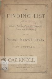 A FINDING- LIST IN THE YOUNG MEN'S LIBRARY AT BUFFALO.