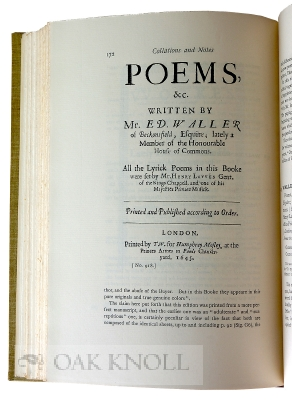 CATALOGUE OF ORIGINAL AND EARLY EDITIONS OF SOME OF THE POETICAL AND PROSE WORKS OF ENGLISH WRITERS FROM WITHER TO PRIOR.