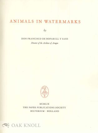 ANIMALS IN WATERMARKS.