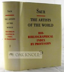 THE ARTISTS OF THE WORLD, BIO-BIBLIOGRAPHICAL INDEX BY PROFESSION (VOL. 2 CABINETMAKER-GOLDSMITH