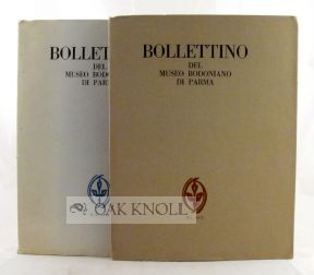 BOLLETTINO DEL MUSEO BODONIANO DI PARMA. N.1 and N.2