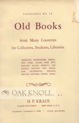 OLD BOOKS FROM MANY COUNTRIES FOR COLLECTORS, STUDENTS, LIBRARIES. 58