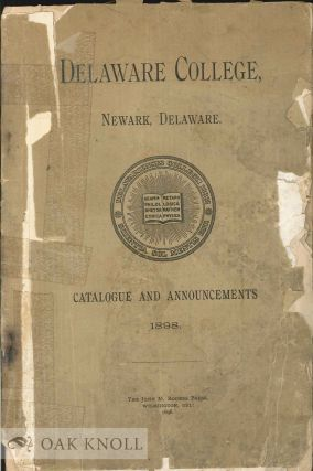 CATALOGUE OF THE OFFICERS AND STUDENTS OF DELAWARE COLLEGE