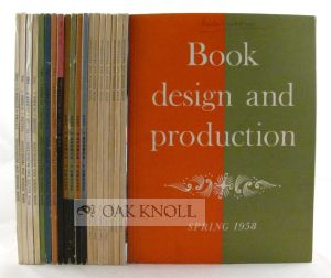 BOOK DESIGN AND PRODUCTION. Edited by James Moran