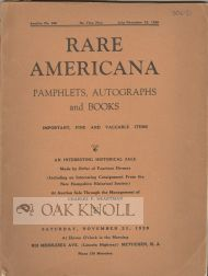 RARE AMERICANA PAMPHLETS, AUTOGRAPHS, AND BOOKS