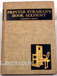 PRINTER STRAHAN'S BOOK ACCOUNT, A COLONIAL CONTROVERSY.