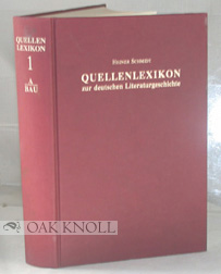 QUELLENLEXIKON ZUR DEUTSCHEN LITERATURGESCHICTE. BIBLIOGRAPHY OF STUDIES ON GERMAN LITERARY...