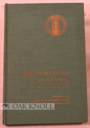 THE HUMANITIES IN CANADA. SUPPLEMENT TO DECEMBER 31, 1964. R. M. Wiles