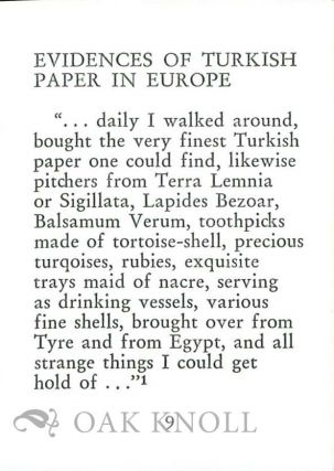 TURCKISCH PAPIR. A SHORT HISTORY OF MARBLING IN THE ORIENT AND IN GERMANY.