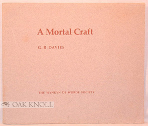 A MORTAL CRAFT. G. R. Davies